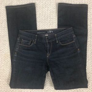 Ann Taylor LOFT   Original Bootcut Jeans Dark Wash